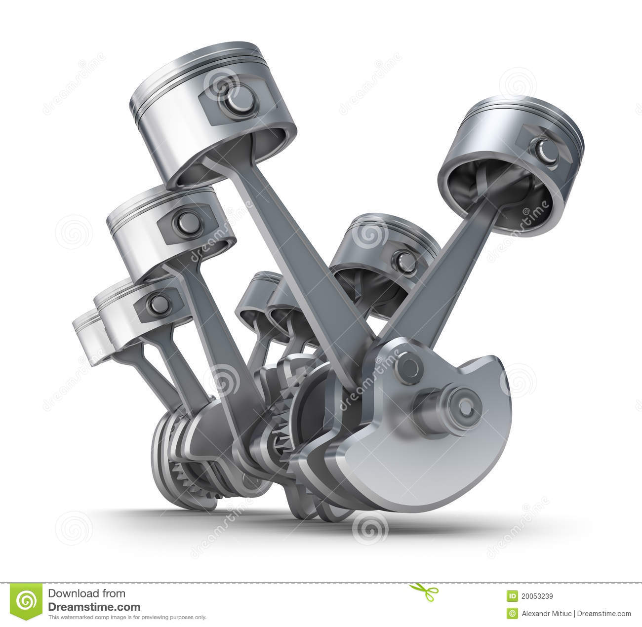 v8 engine pistons royalty free stock images