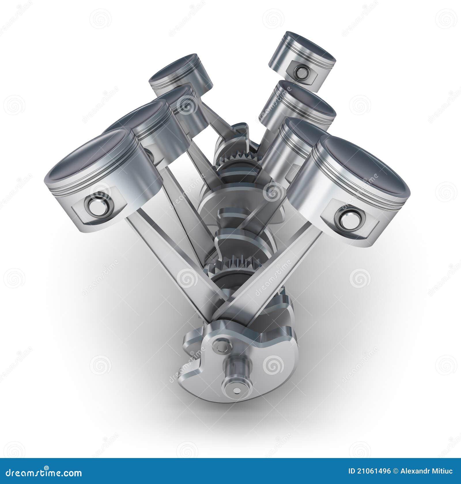 V8 engine pistons royalty free stock image image 21061496 for Sell em all motors