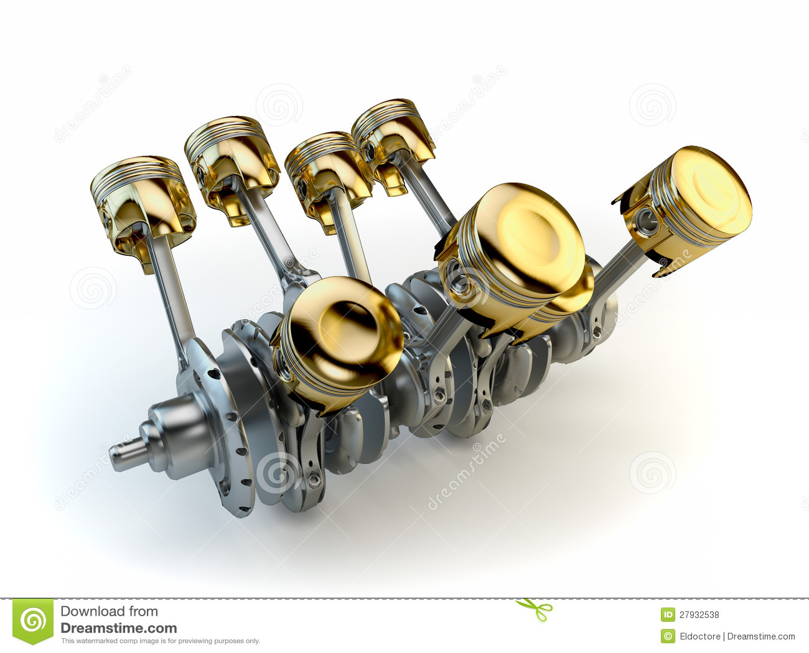 V8 Engine Tattoo V8 engine pistons stoc...