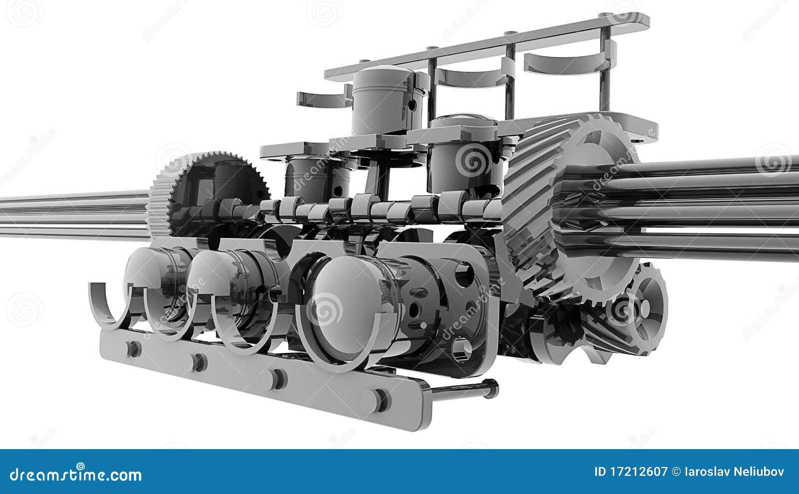 V8 3d Engine Diagram Worksheet And Wiring Honda Parts Name Internal Combustion Stock Illustration Names