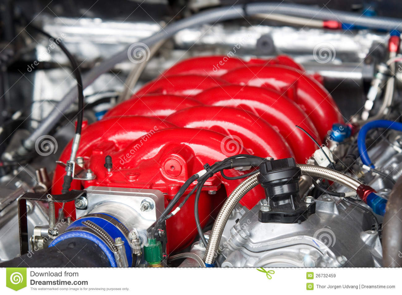 V8 Racing Car Engine Royalty Free Stock Images Image