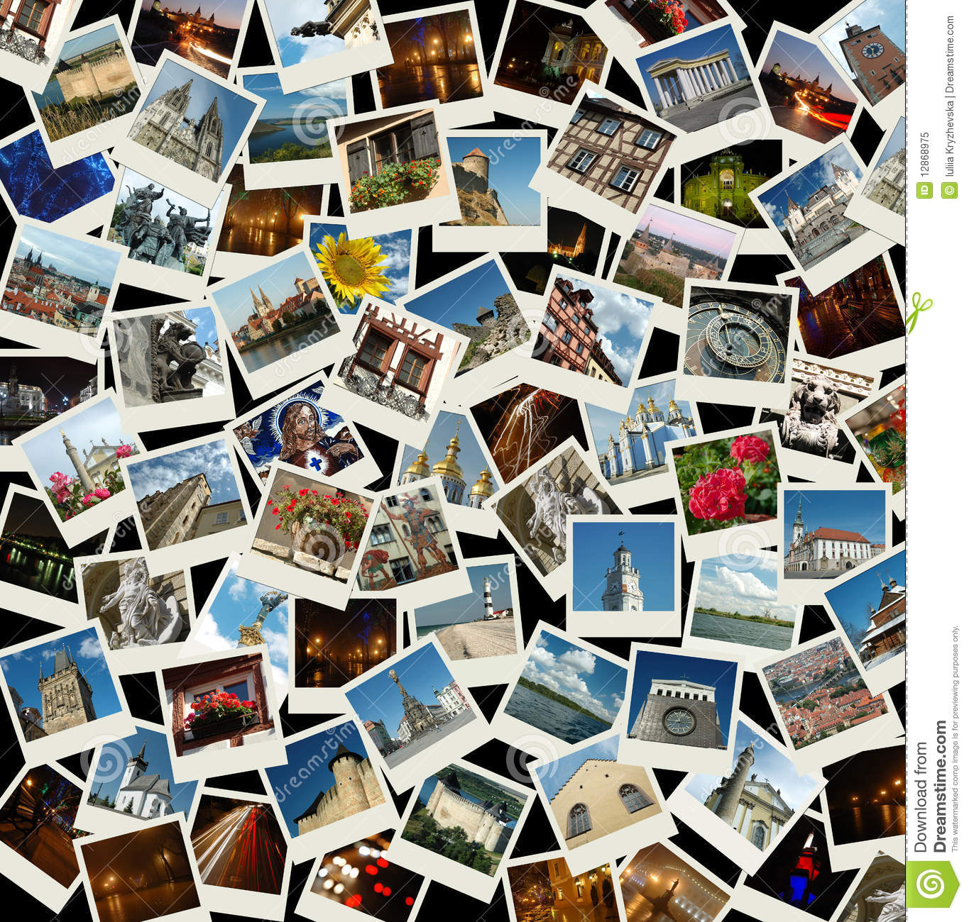 va europa collage con las fotos de europa foto de archivo libre de regal as imagen 12868975. Black Bedroom Furniture Sets. Home Design Ideas