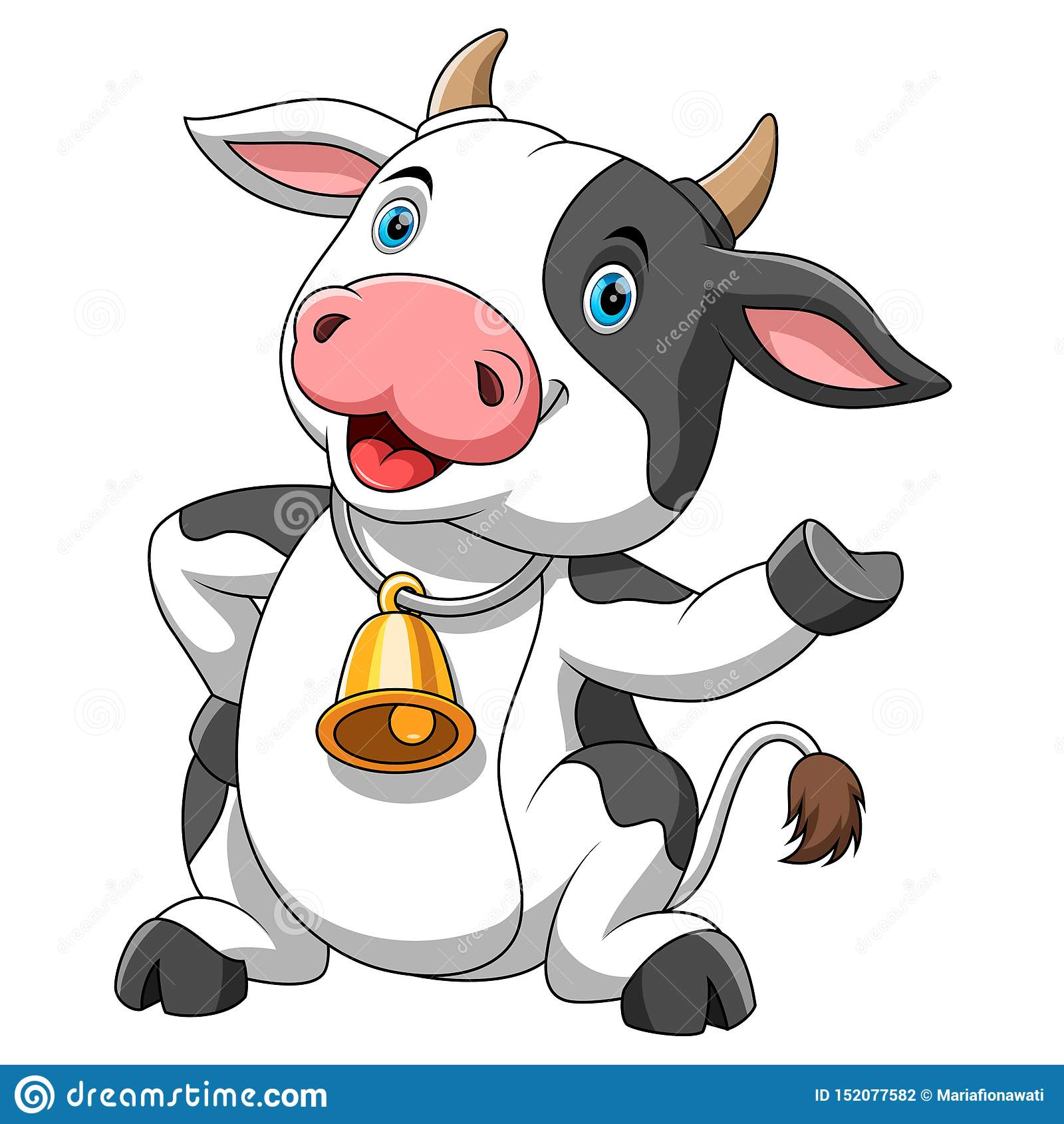 Vaca feliz de la historieta