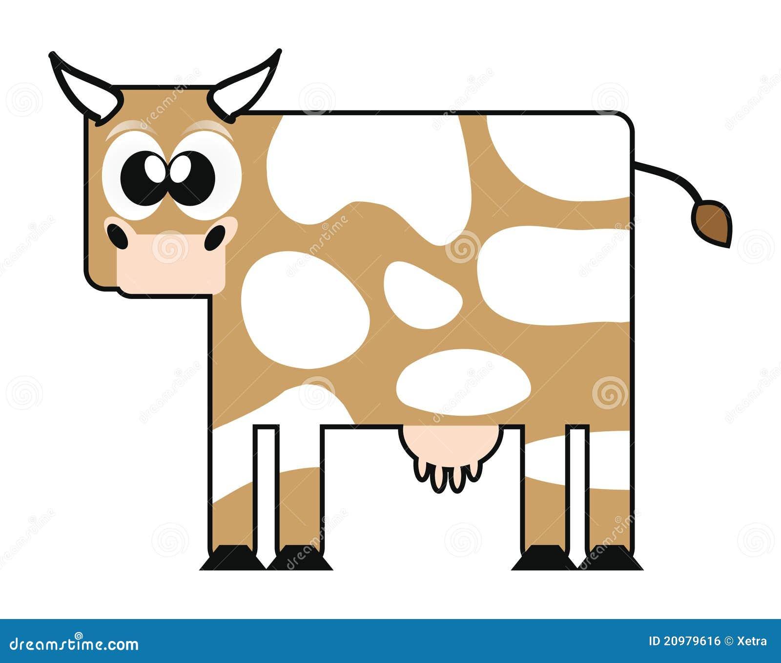 Vaca feliz dos desenhos animados imagem de stock royalty