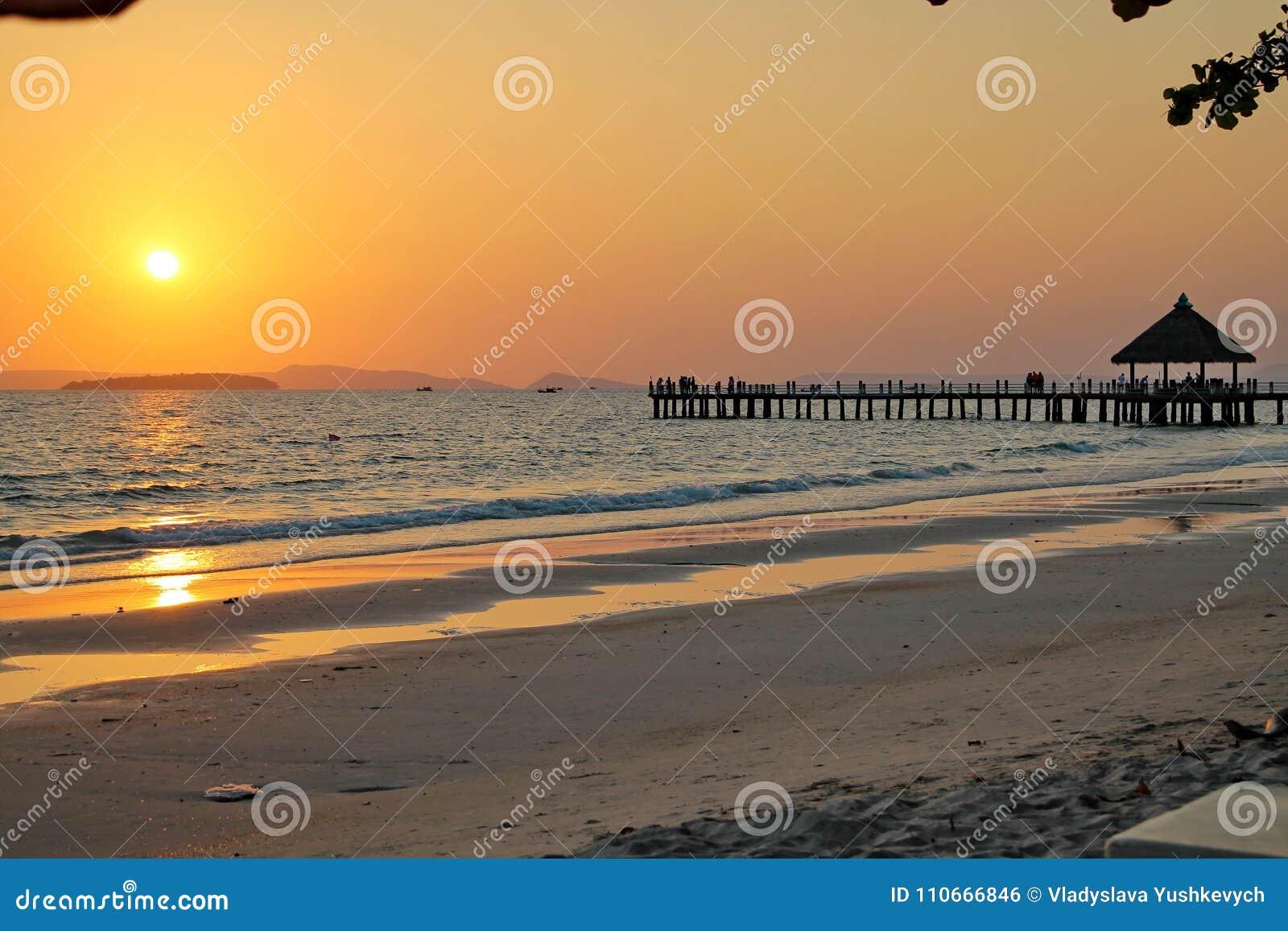 Vacances au Cambodge belle vue de la plage Monde impressionnant de voyage Repos d été