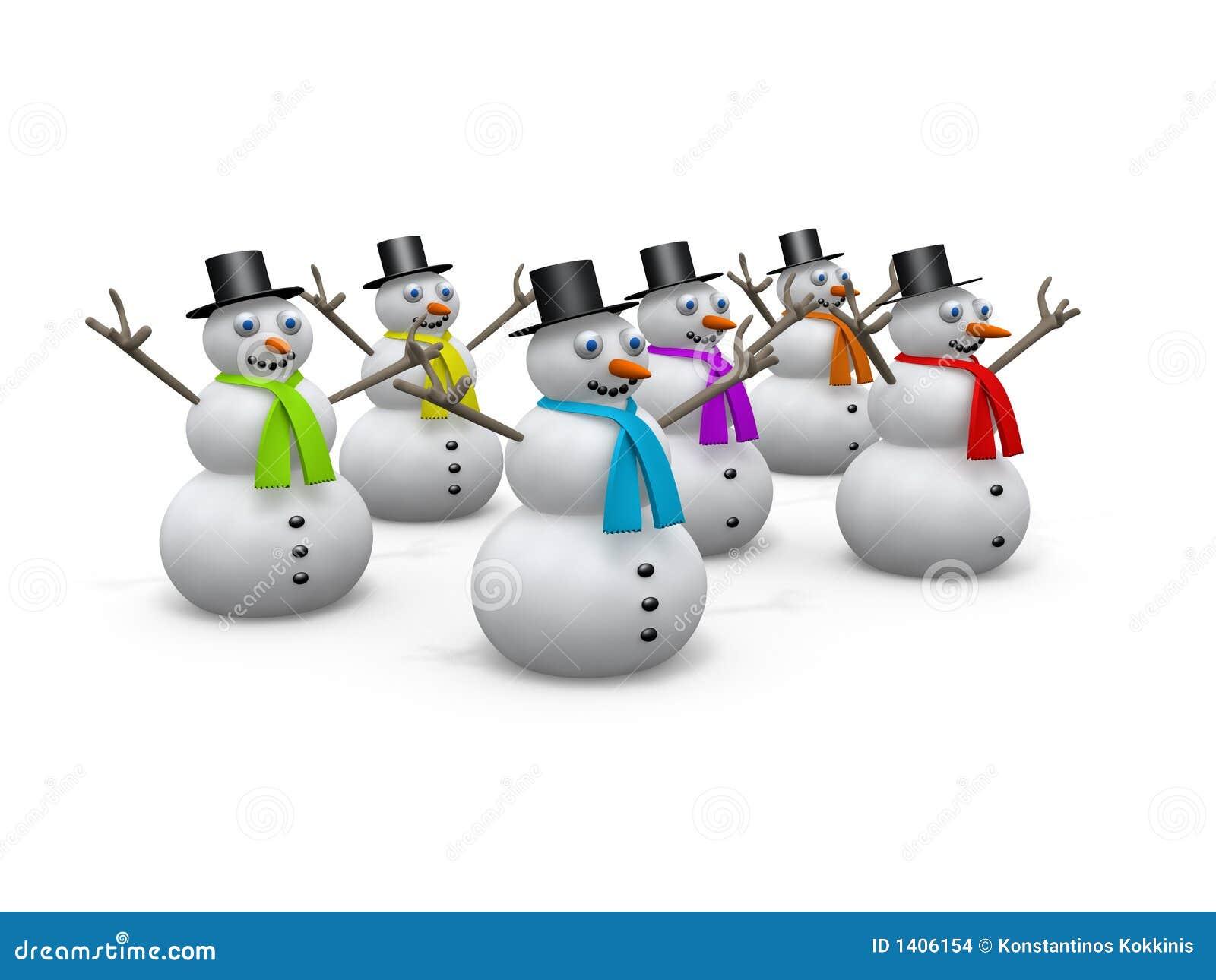 Vacances - bonhommes de neige