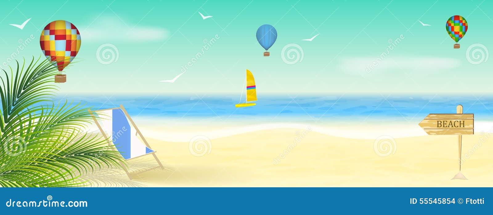 Vacances d 39 t au bord de la mer papier peint for Papier peint bord de mer