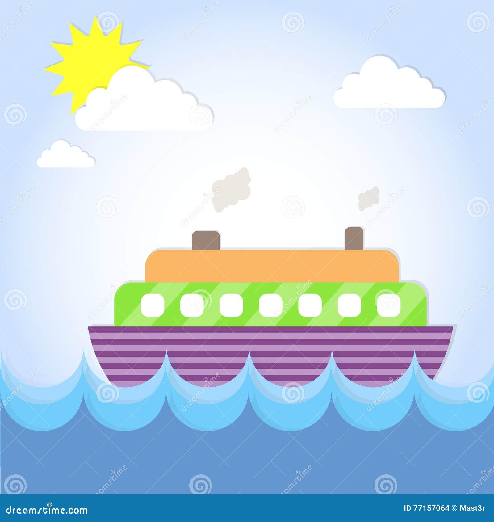 Vacances d océan d été de revêtement de bateau de croisière