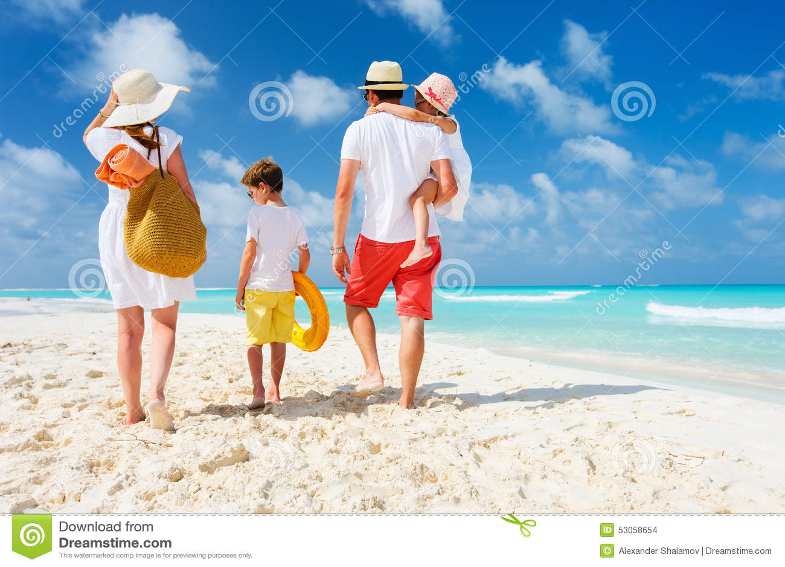 Vacances de plage de famille