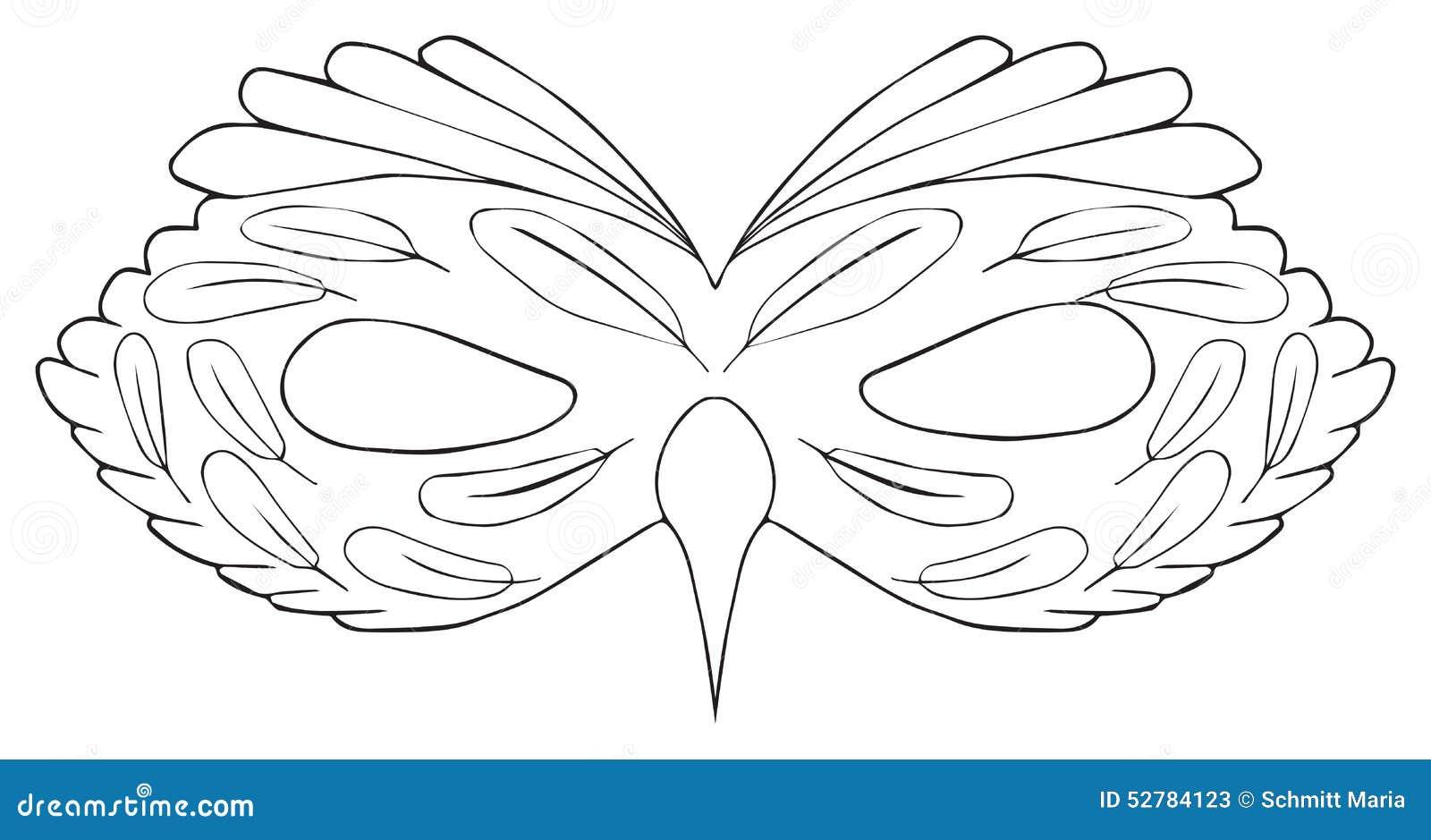 Vacances heureuses masque d 39 oiseau avec un cirrus - Masque oiseau a imprimer ...
