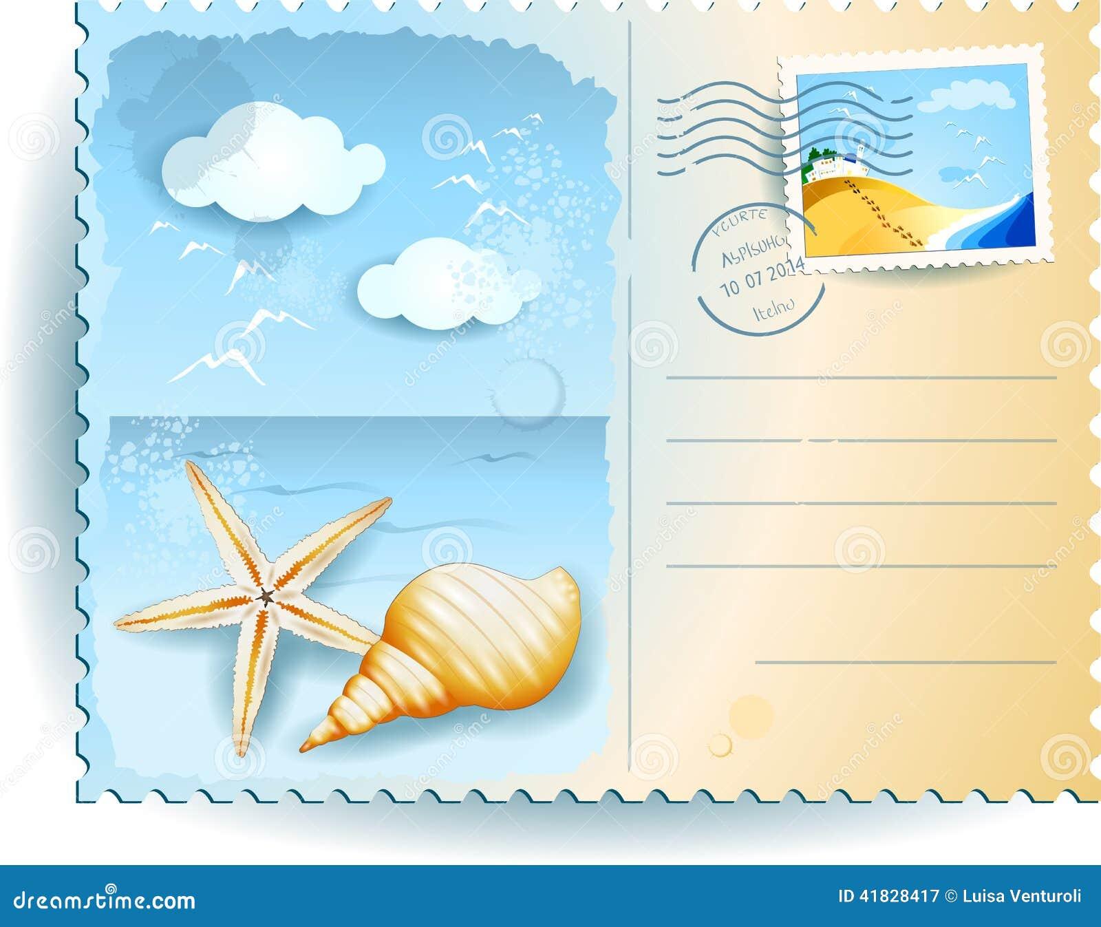 Carte Postale Vacances | Carte