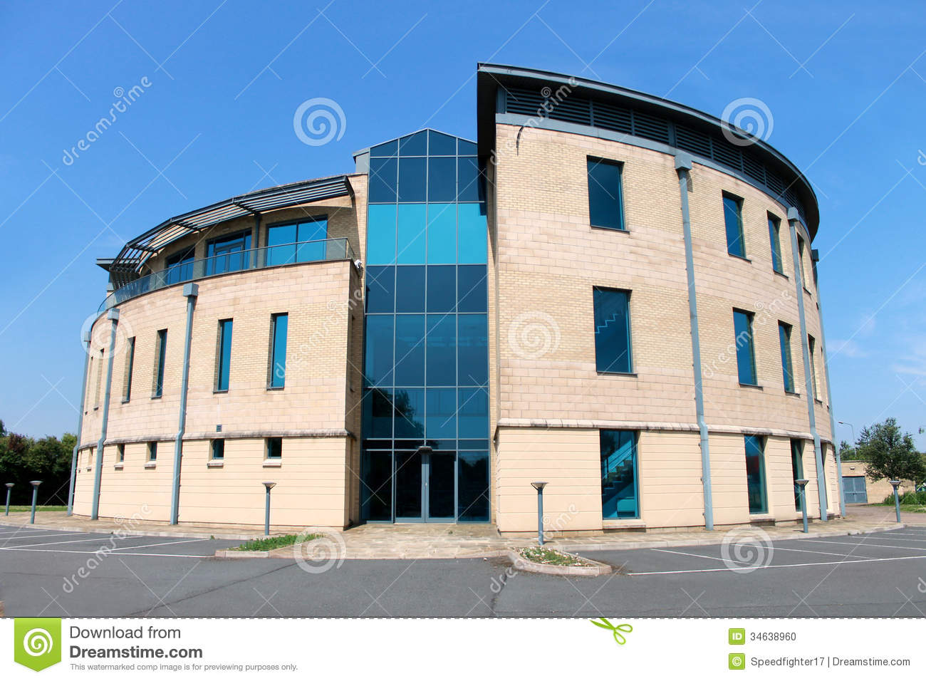 Vacant modern office building stock photo image 34638960 for Modern office building exterior design