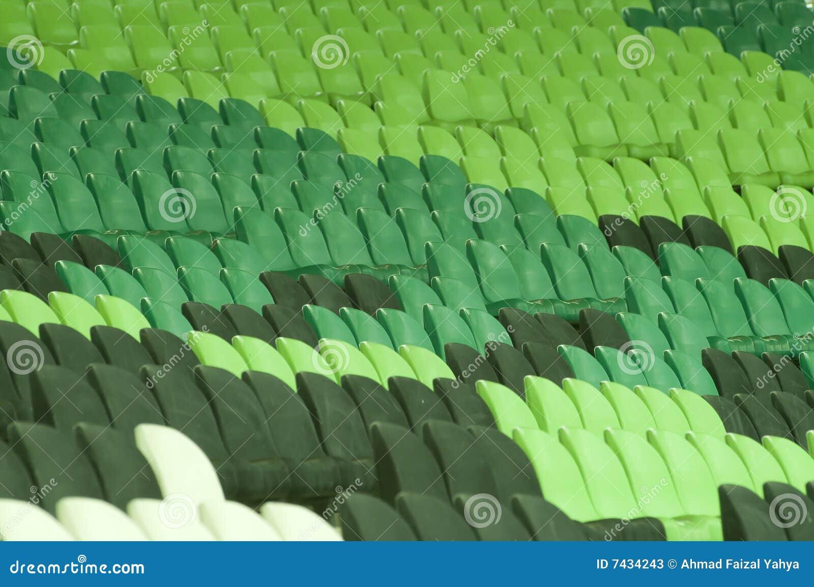 Vacant stadium seats