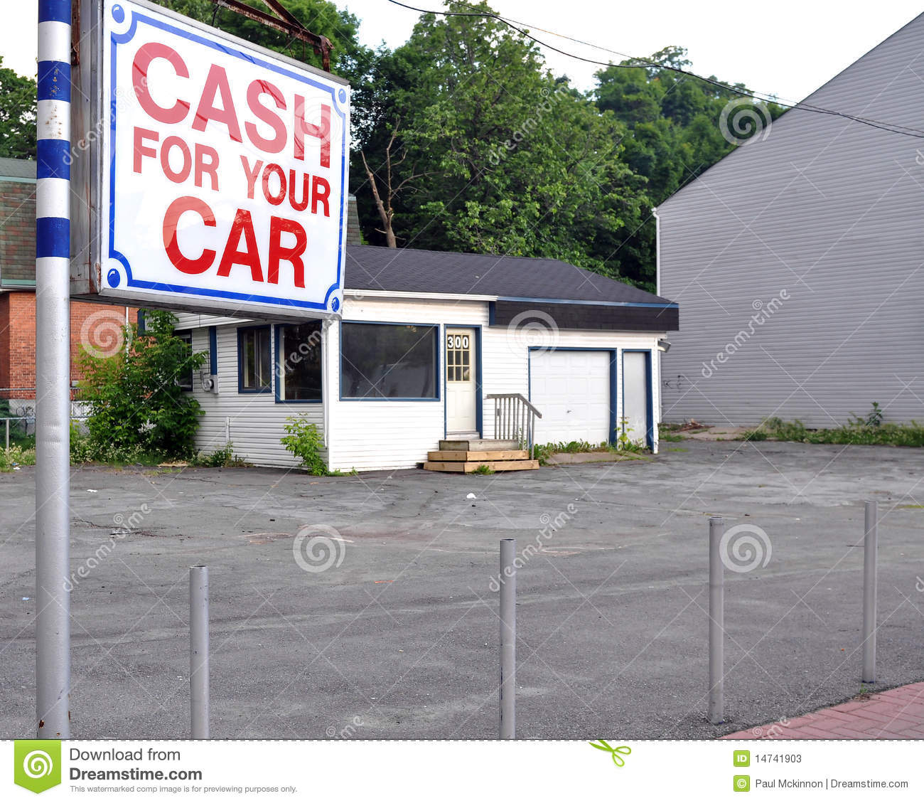 vacant used car lot stock image image of auto sale 14741903. Black Bedroom Furniture Sets. Home Design Ideas
