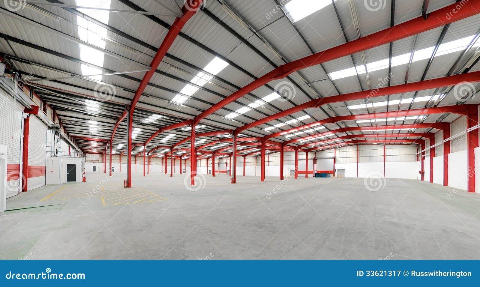 Royalty Free Stock Photo. Download Vacant Warehouse Interior ...