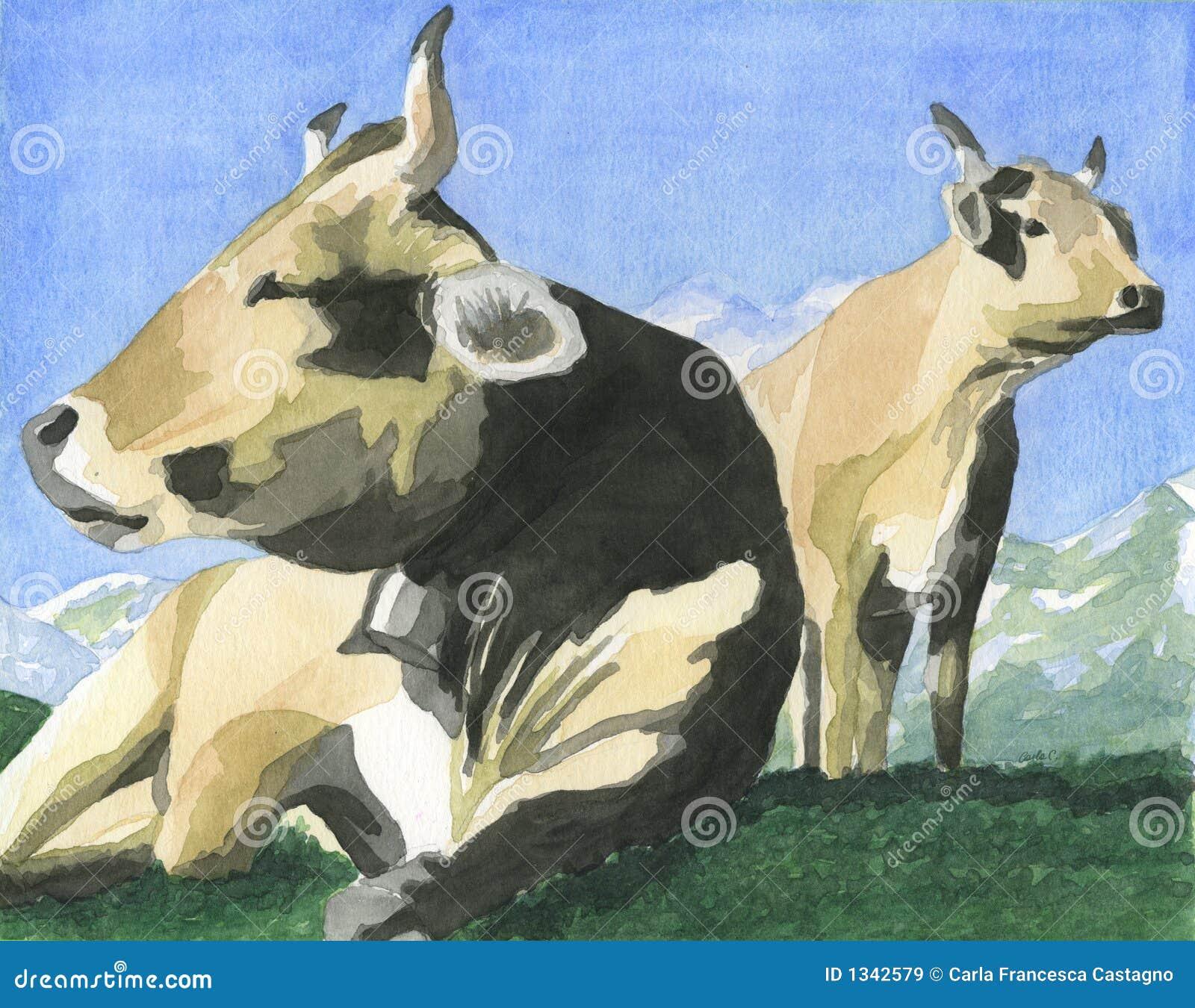 Vacas na grama - arte -final