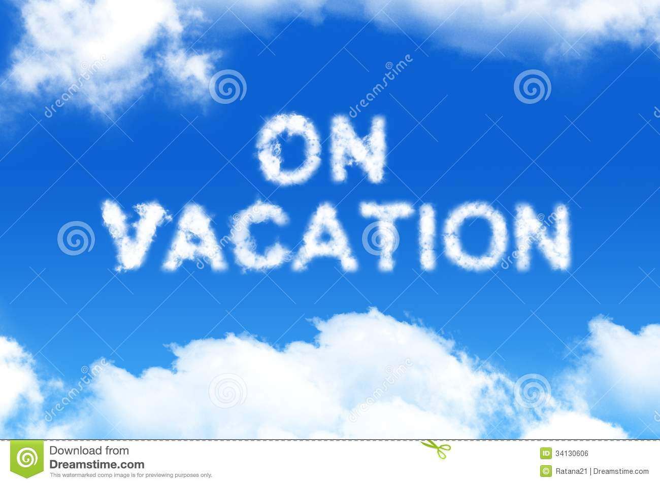 On Vacation - Cloud Word Royalty Free Stock Image - Image ...