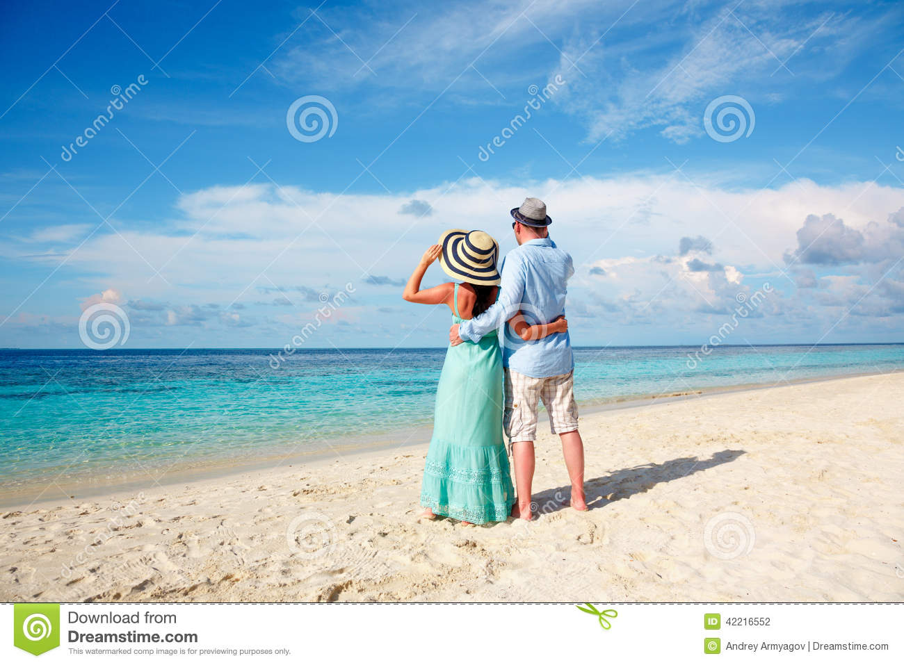 Couple on a beach at maldives royalty free stock photo for Tropical vacations for couples