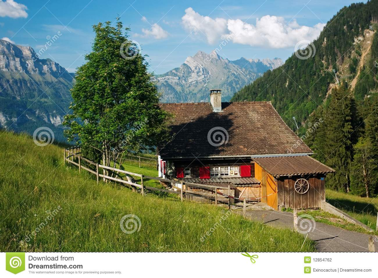 Vacation house in the mountains stock photo image 12854762 - Summer houses mountains ...