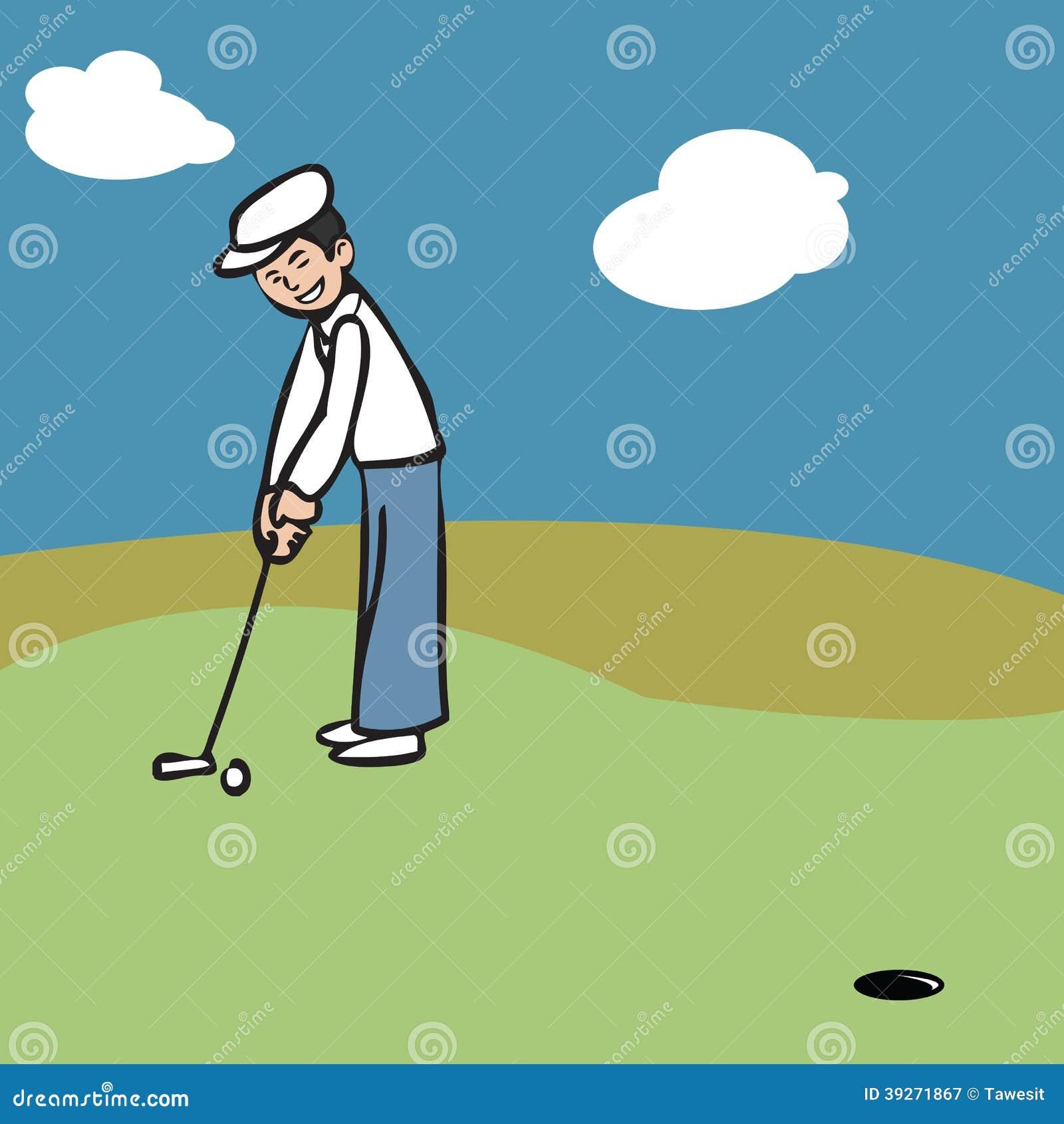 Vacation Man Putting Golf Illustration 39271867 - Megapixl on cartoon golf club clip art, cartoon golf club swing, the step to draw a cartoon golf club, cartoon man golf club,