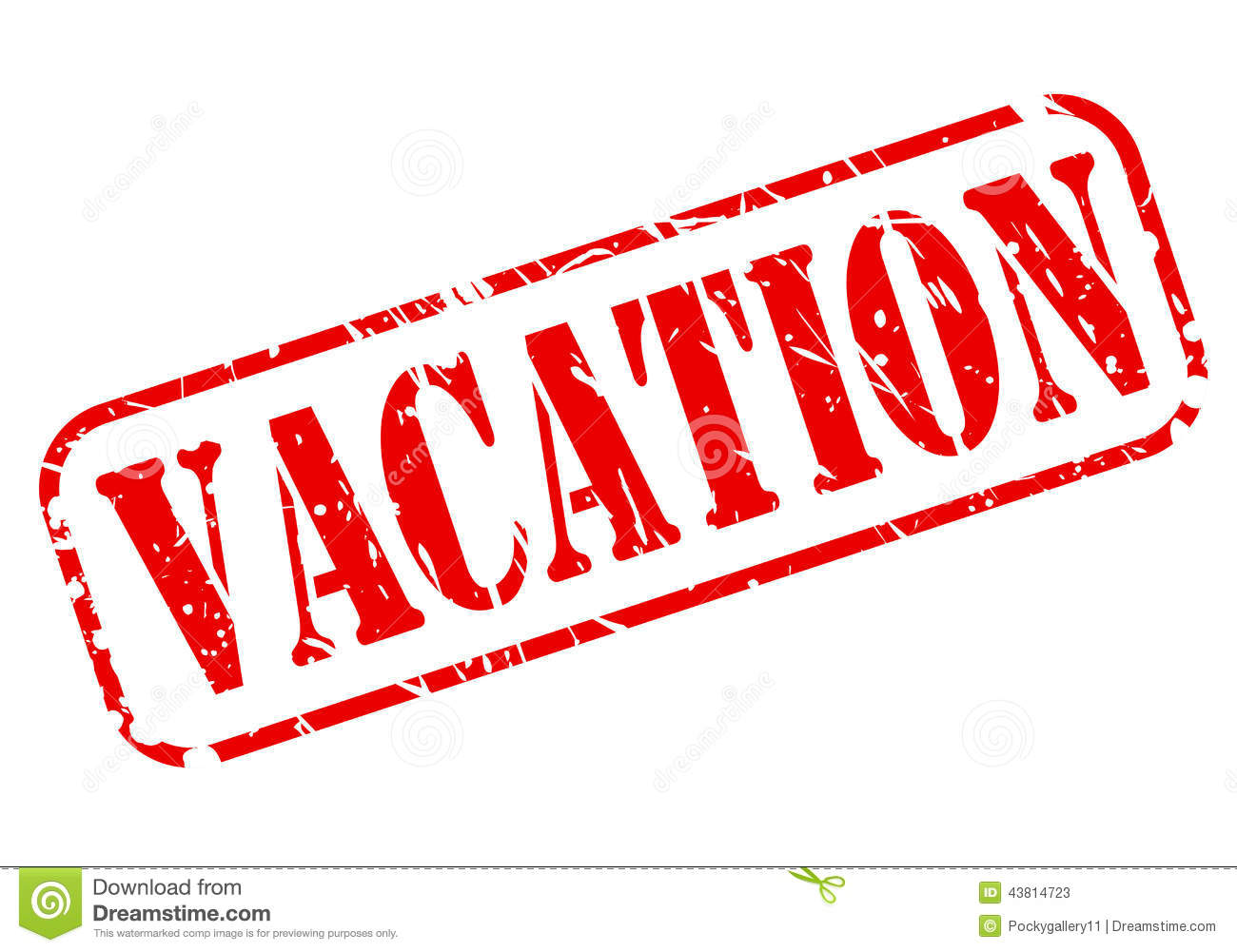 Vacation Red Stamp Text Stock Vector Image 43814723