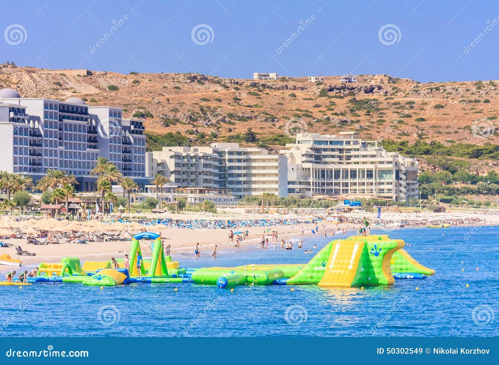 Vacation At Sea The Resort Faliraki Rhodes Island Greece Editorial Stock Image Image