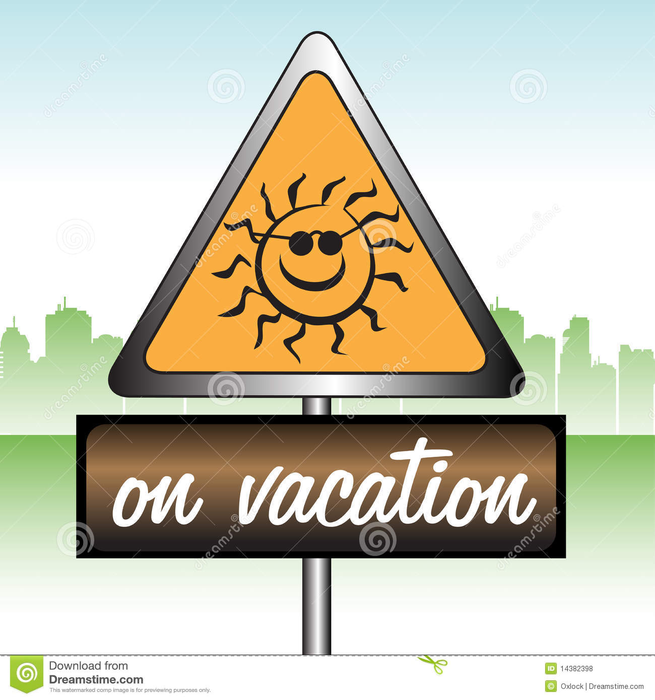 On vacation sign