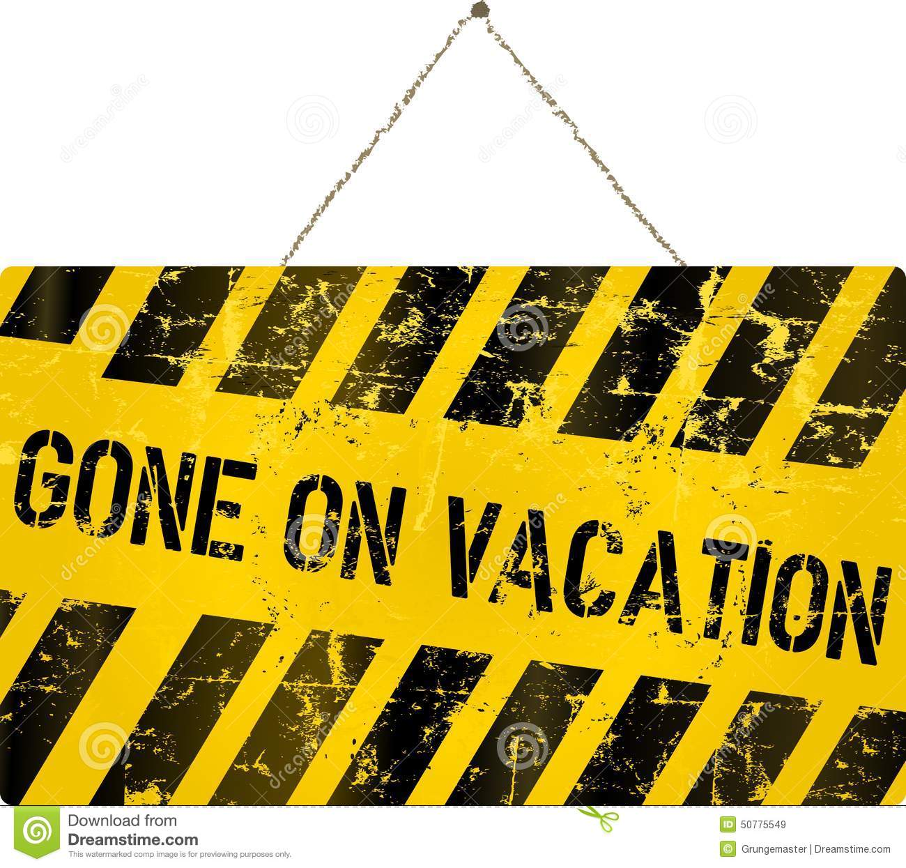 On Vacation Sign Stock Vector Illustration Of