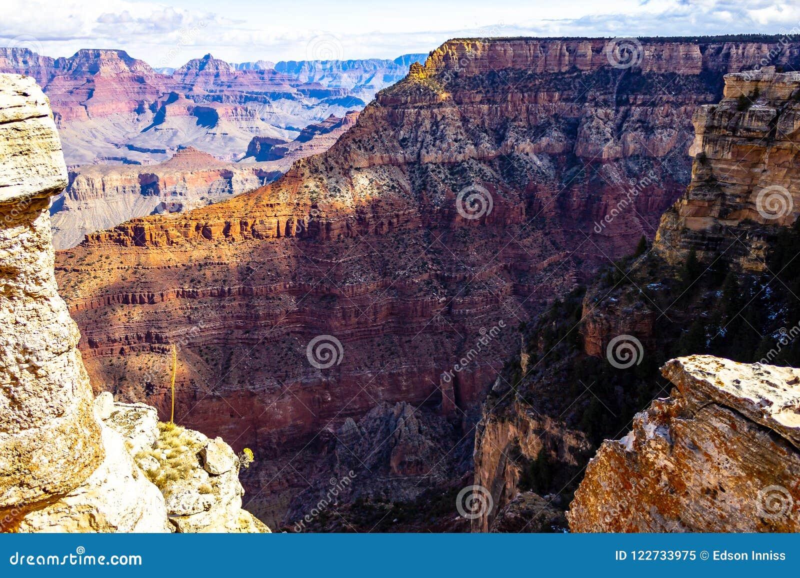 Grand Canyon National Park South Rim Arizona Usa Stock Image