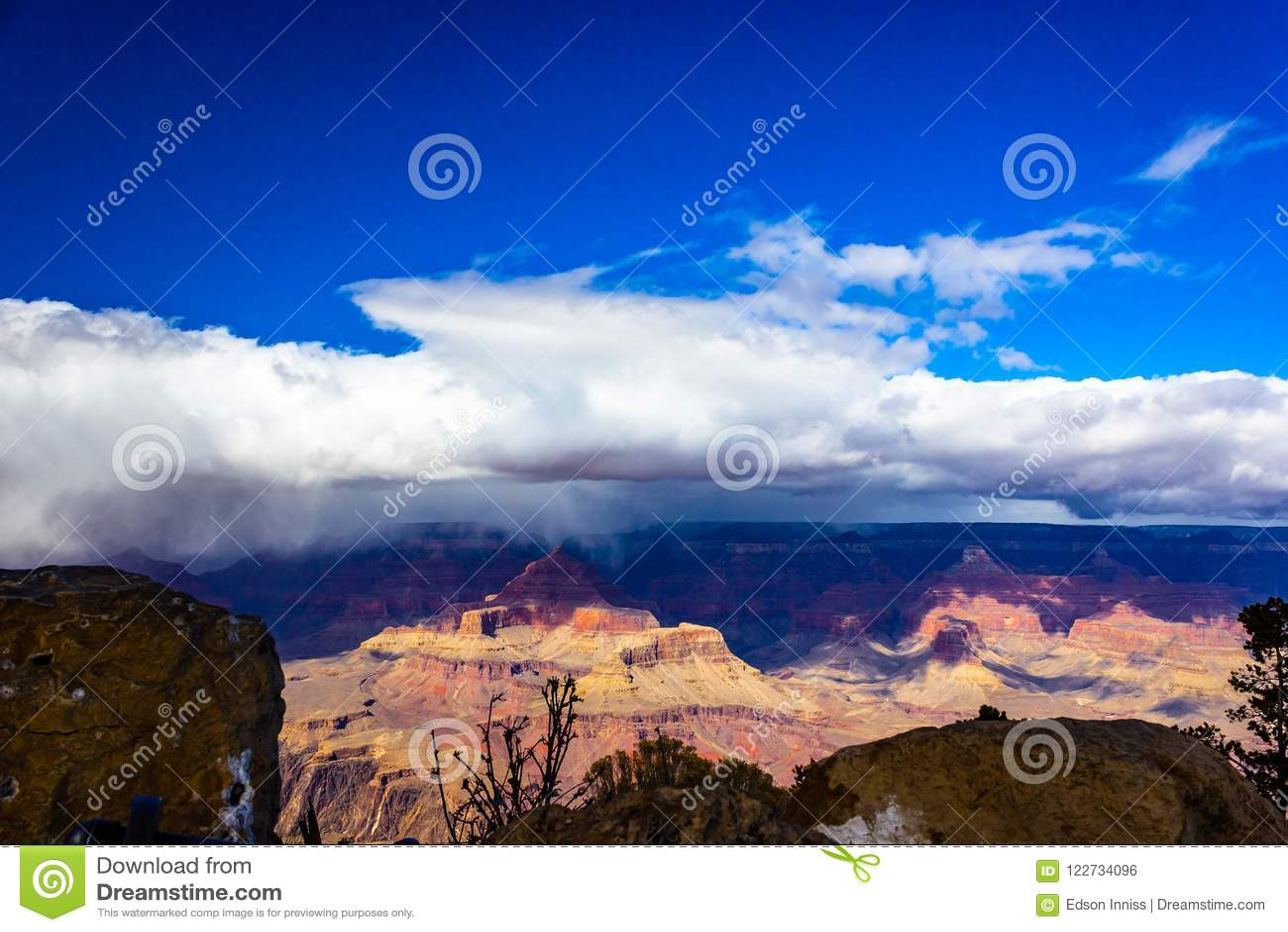 Grand Canyon National Park South Rim Arizona Usa Stock Photo