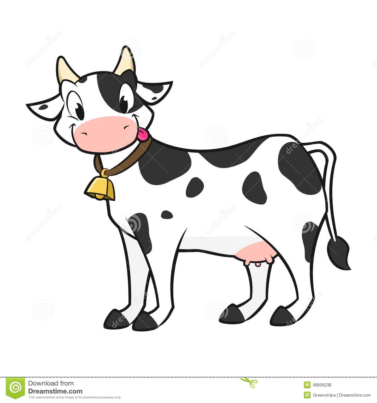 Vache dessin anim illustration de vecteur illustration du amical 48606238 - Dessin de vache ...
