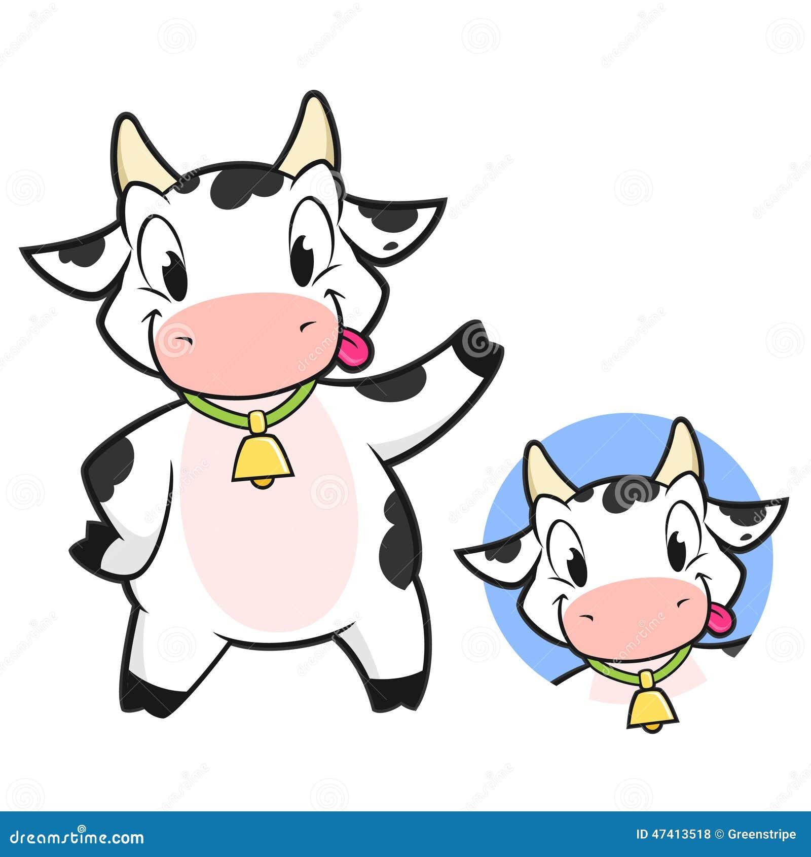 Vache dessin anim illustration de vecteur image 47413518 - Image de vache drole ...