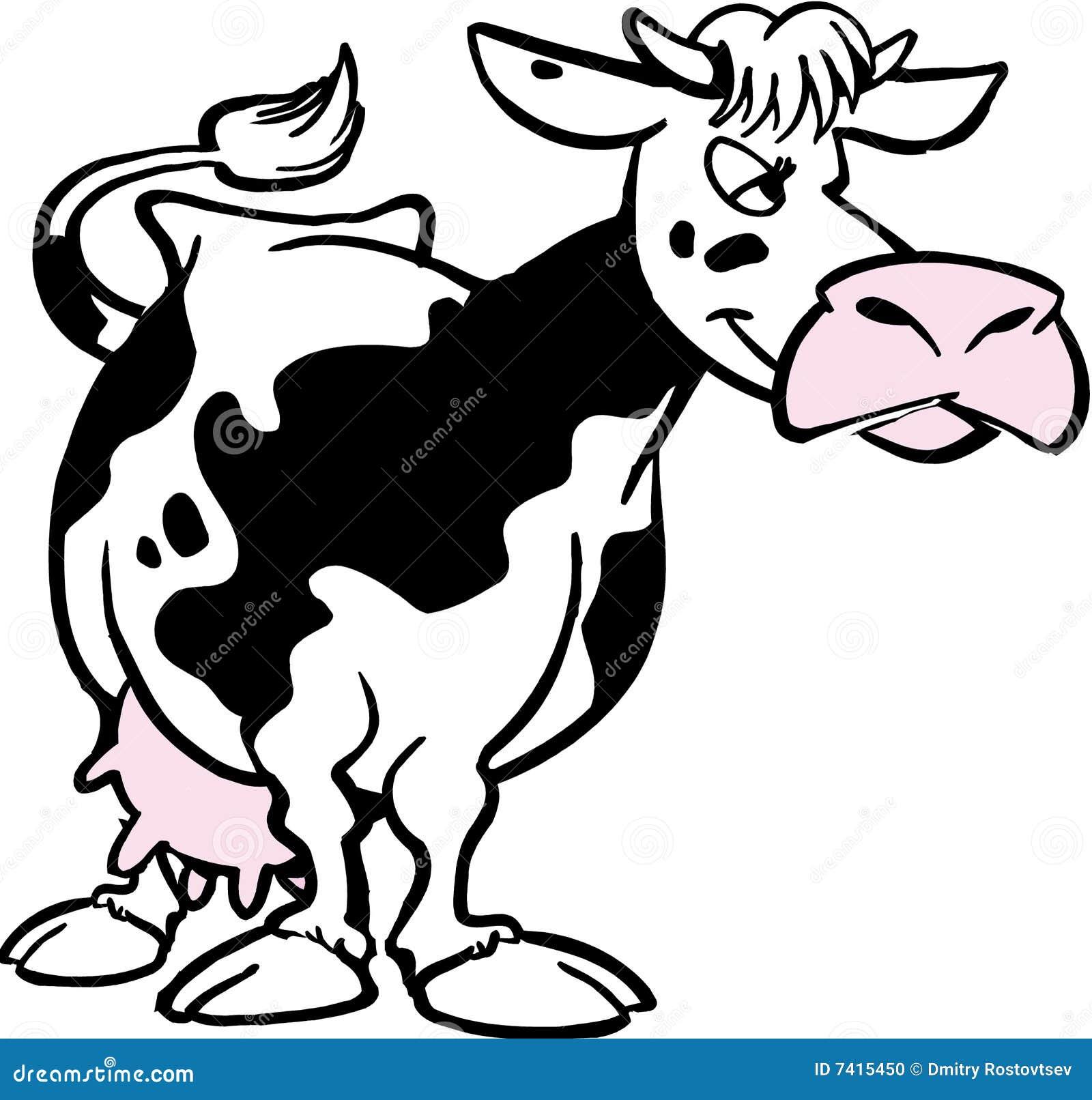 Vache dessin anim photo stock image 7415450 - Dessin d une vache ...