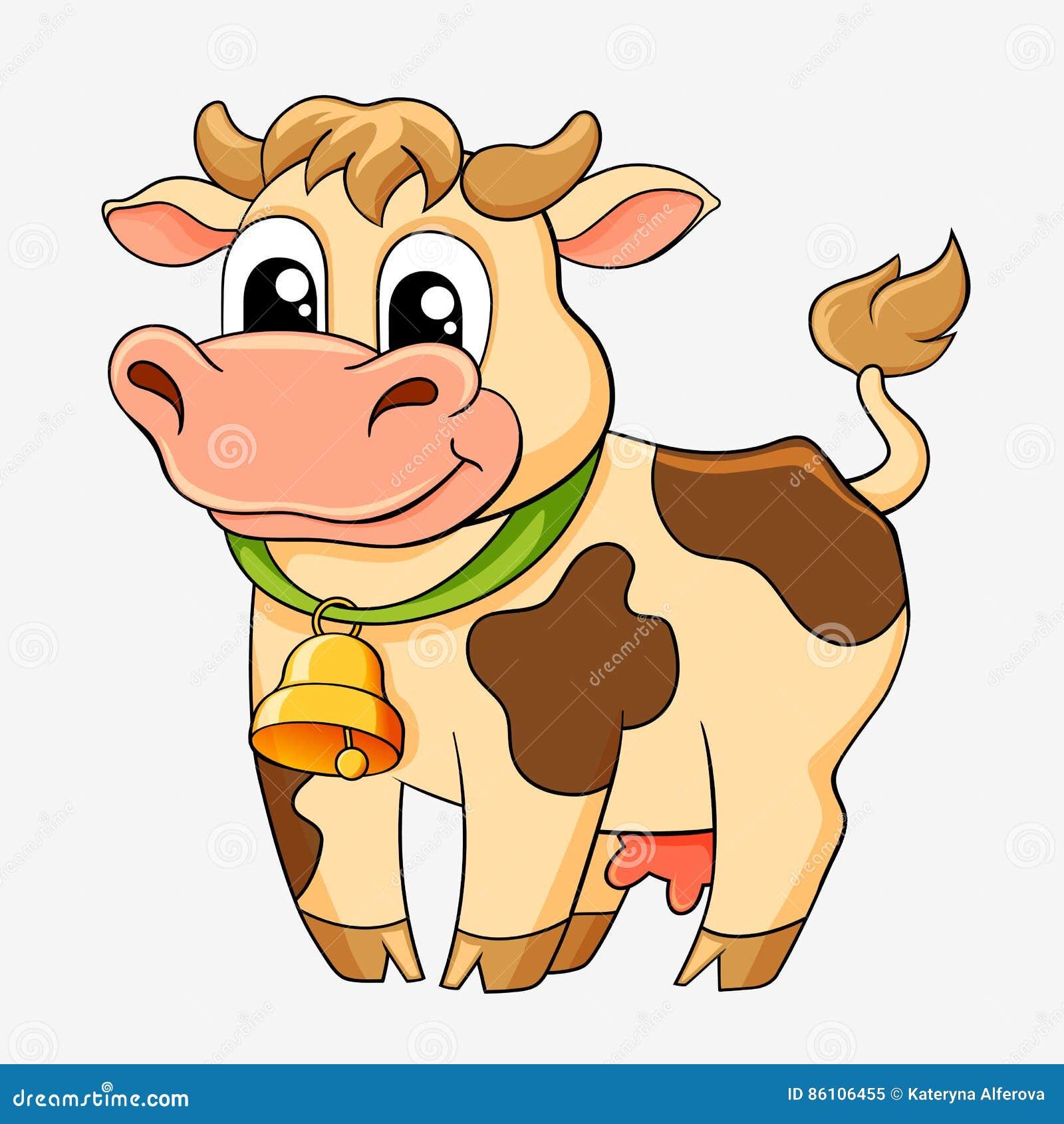 Vache dr le dessin anim illustration de vecteur - Image de vache drole ...