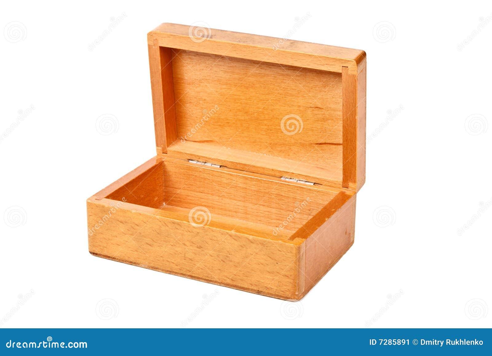 Vacie el rectángulo de madera abierto aislado