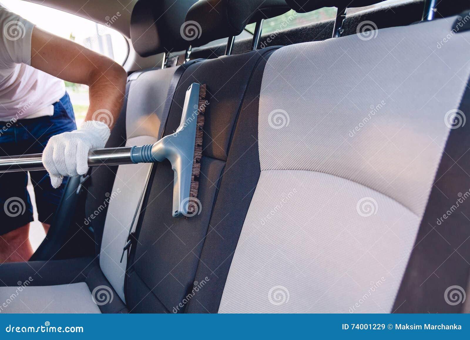 Vacuüm schoonmakende autozetels