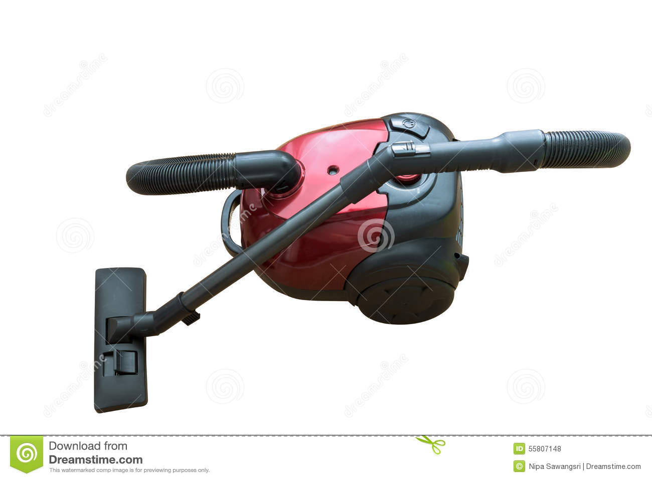 Vacuum Cleaner Isolated On White Background Stock Photo