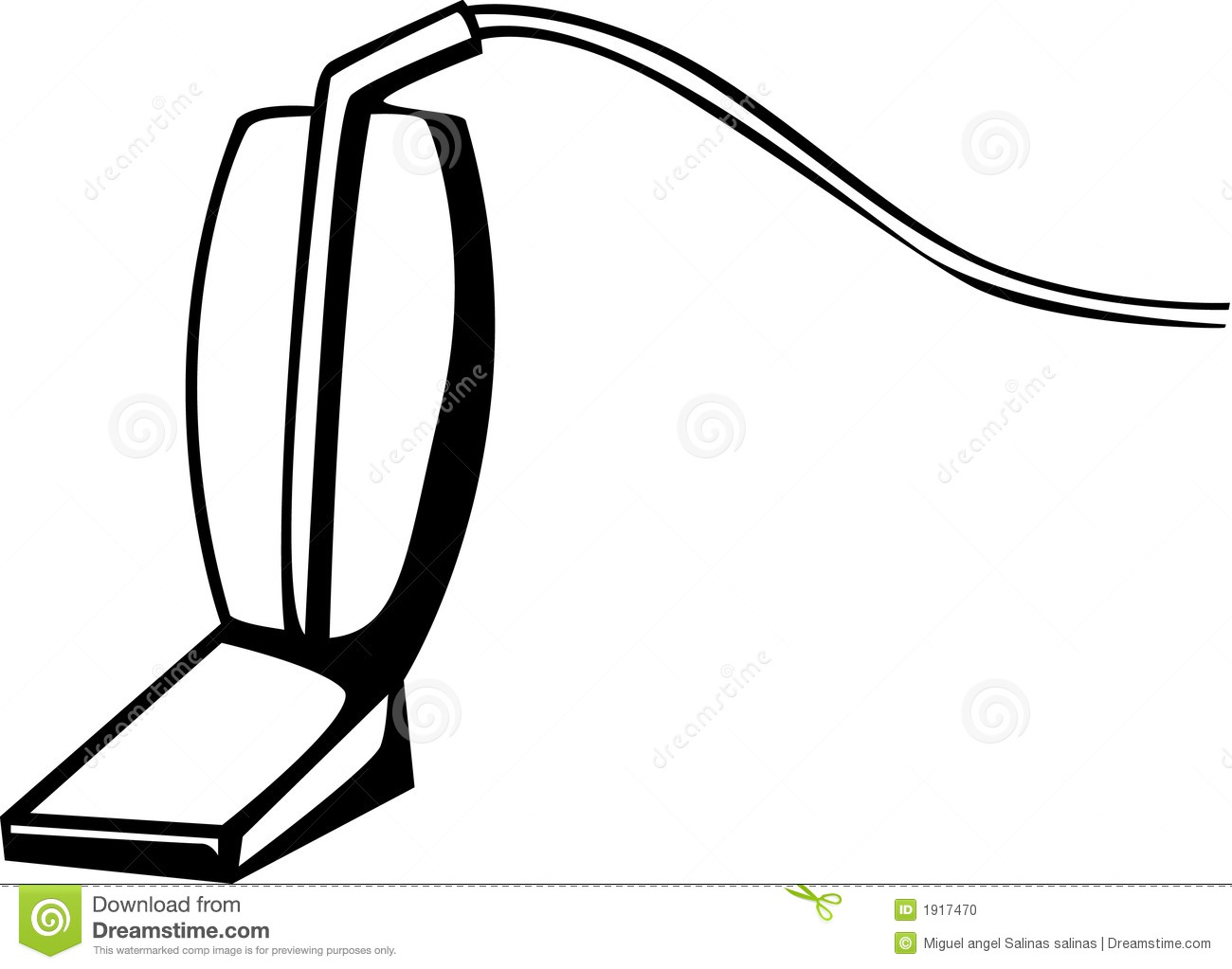 Vacuum Cleaner Vector Illustration Stock Photo - Image ... Vacuum Clipart Black And White
