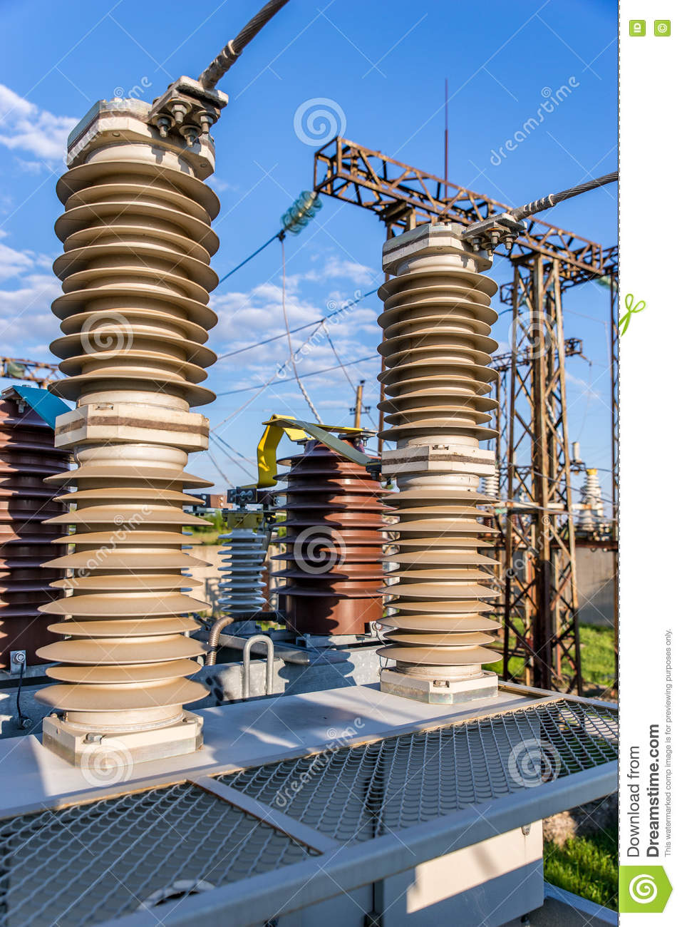 High Voltage Gear : High voltage electrical equipment royalty free stock photo