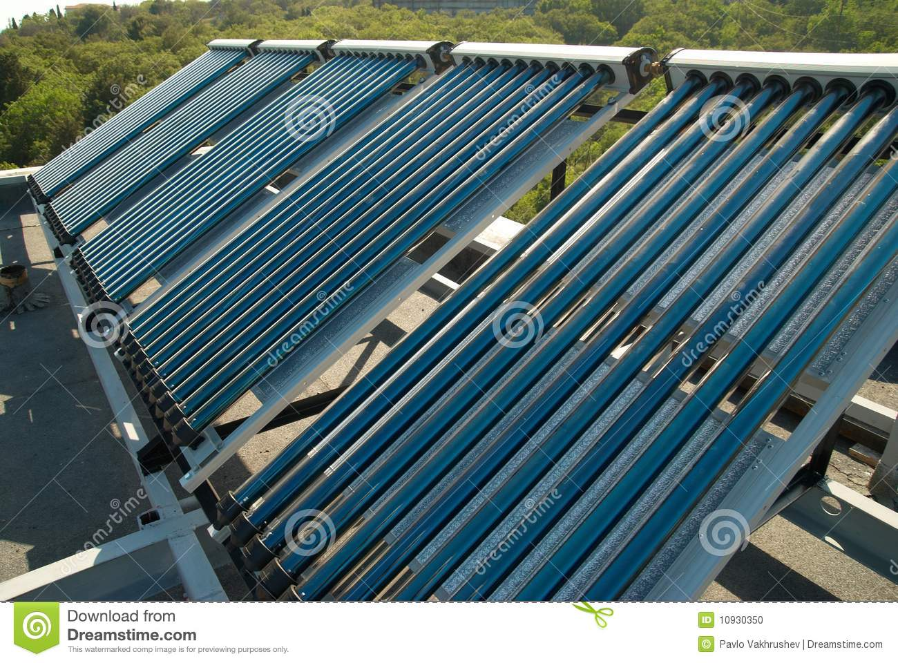 Vacuum Solar Water Heating System Stock Photo Image: 10930350 #134863