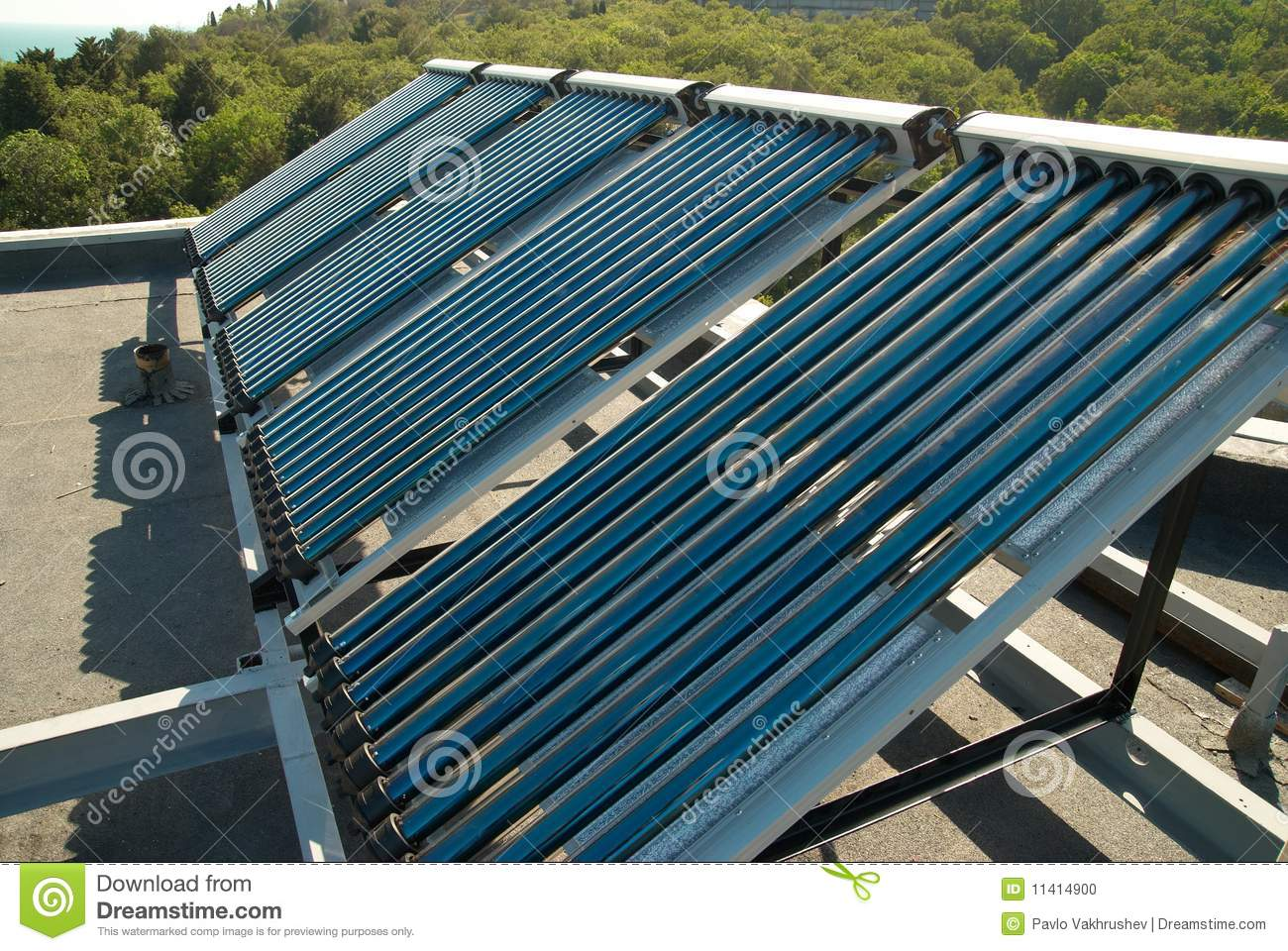 Vacuum Solar Water Heating System Stock Photo Image: 11414900 #124864