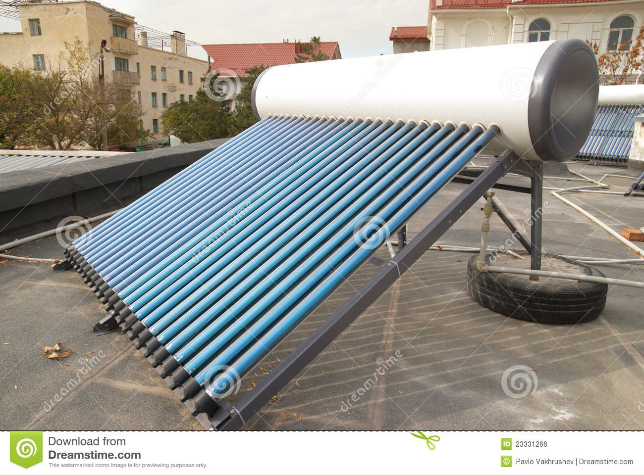 Vacuum Solar Water Heating System Royalty Free Stock Image Image  #2D769E