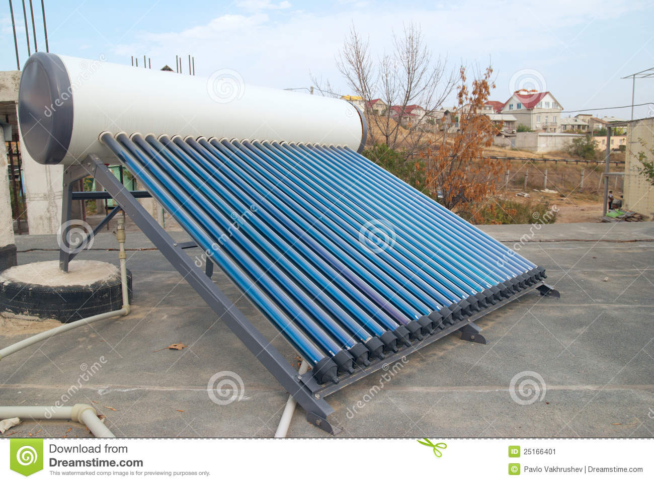 Vacuum Solar Water Heating System Stock Image Image: 25166401 #2A75A1
