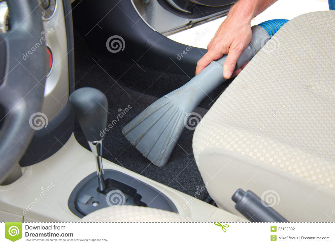 vacuuming a car interior automobile detailing stock photo image 35109832. Black Bedroom Furniture Sets. Home Design Ideas
