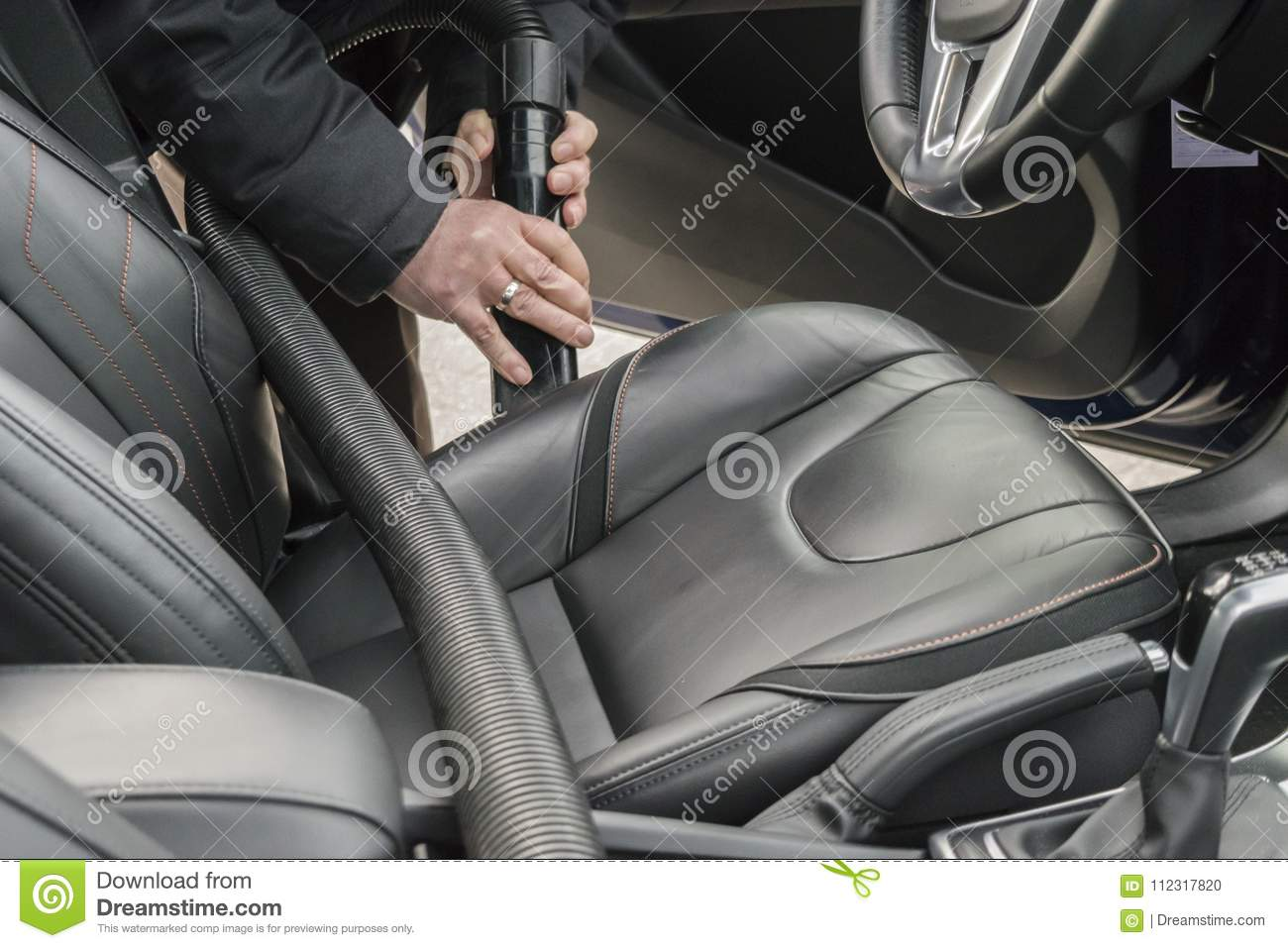 Vacuuming The Car Interior Stock Photo Image Of Cleaner