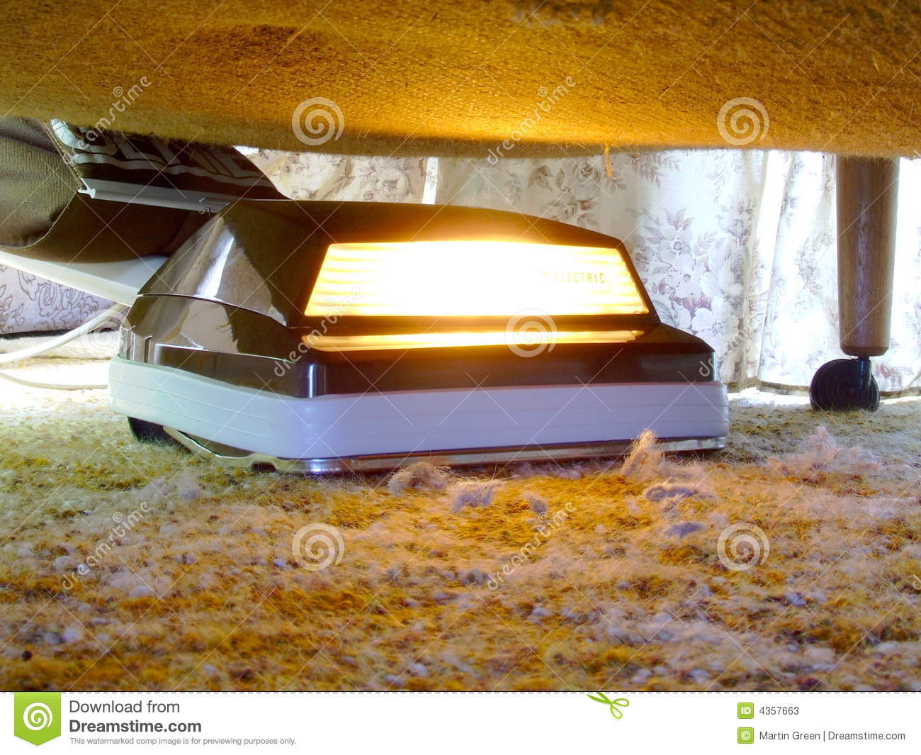 Vacuuming Under The Bed Stock Image Image Of Dirt Dusty