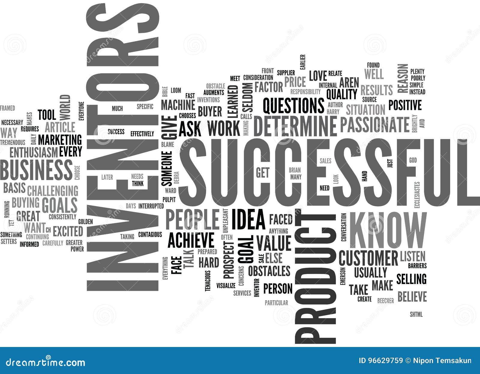 Vad gör en lyckad uppfinnare Word Cloud