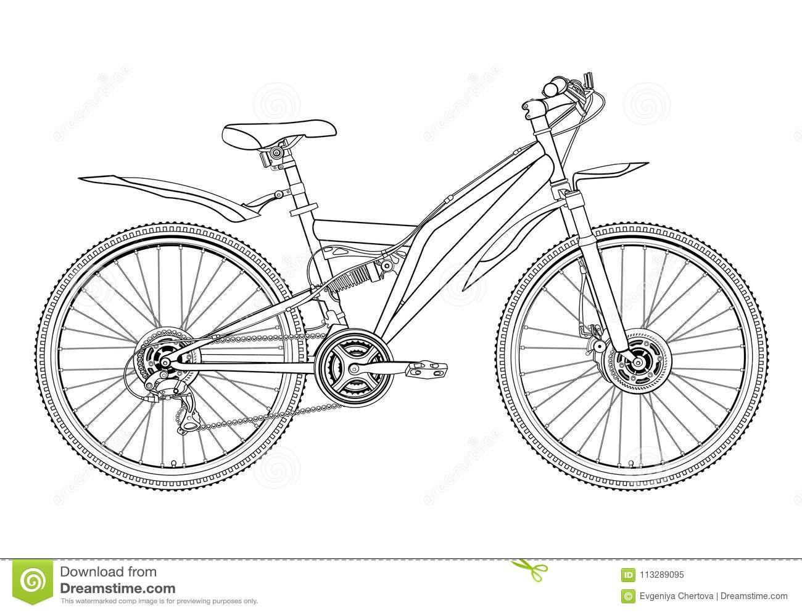 Vada In Bicicletta Il Disegno Di Contorno Di Vettore Il Monocromio