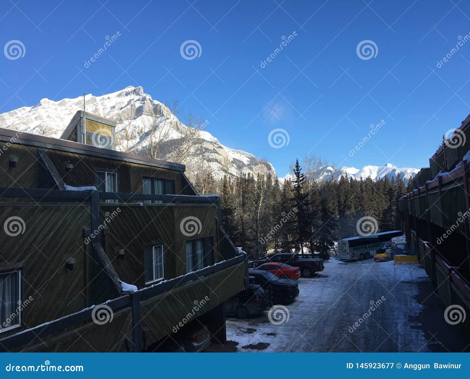 Vagando intorno a Banff, Alberta, Calgary nell inverno