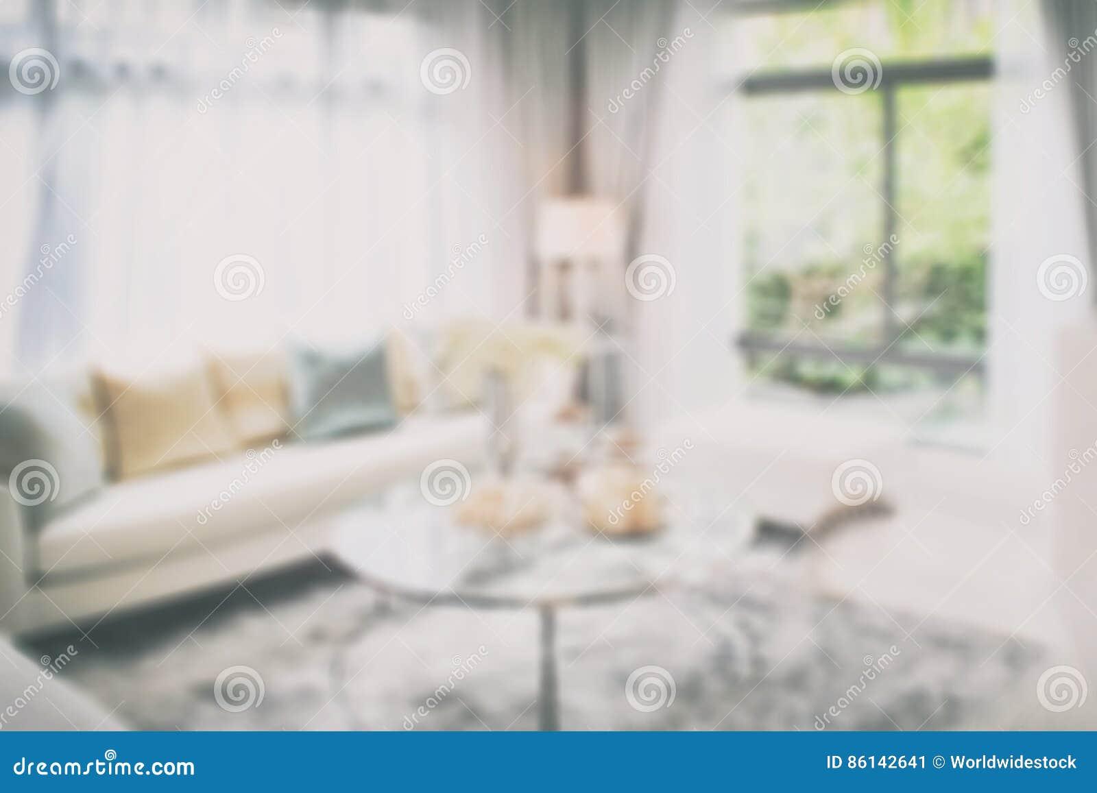 Vage binnenlandse woonkamer als achtergrond